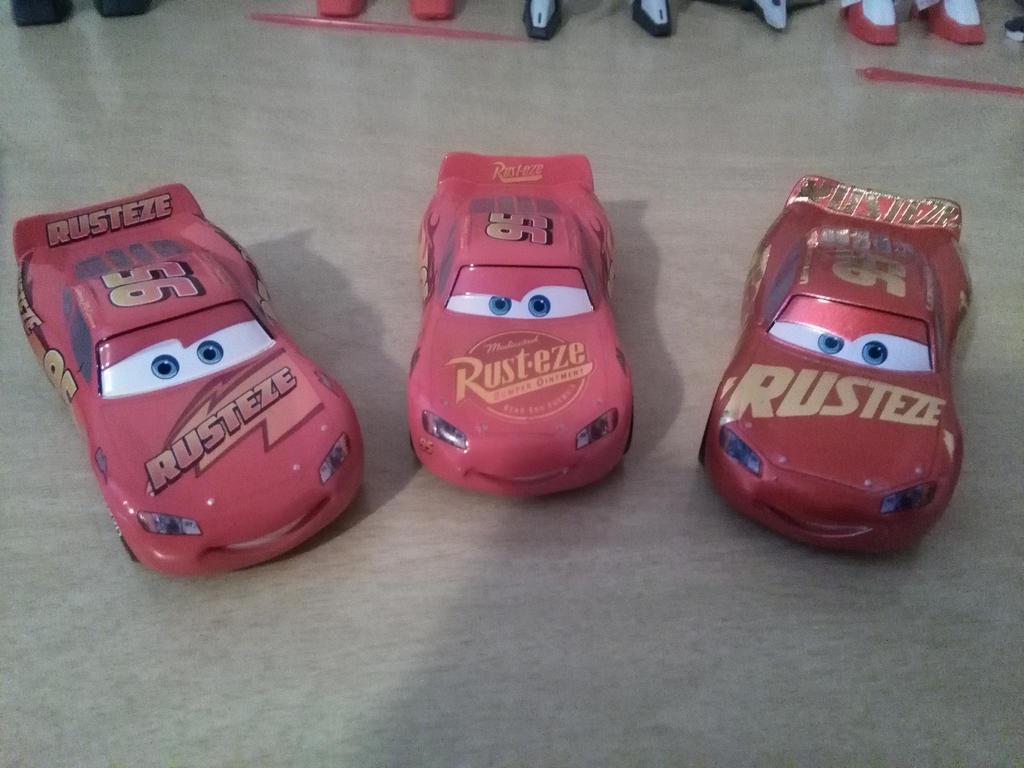 Disney Store Cars 3 Lightning McQueens by NaruHinaFanatic