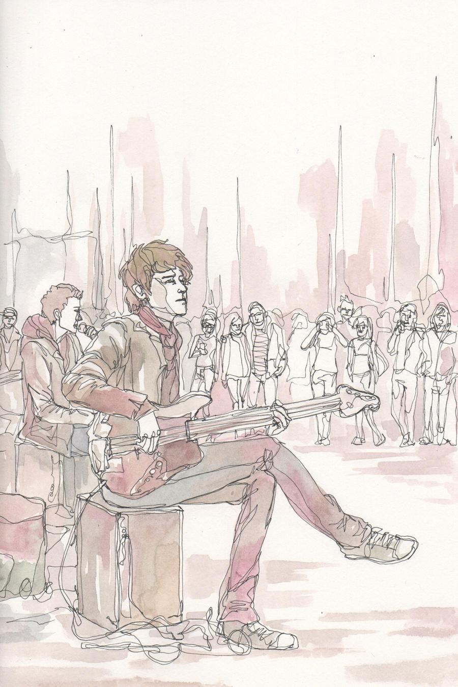 street musician by Wik86