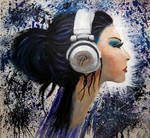 Techno Girl Acryl on canvas by pa-he