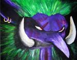 Warcraft Troll acryl on canvas