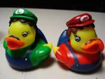 Mario and Luigi ducks