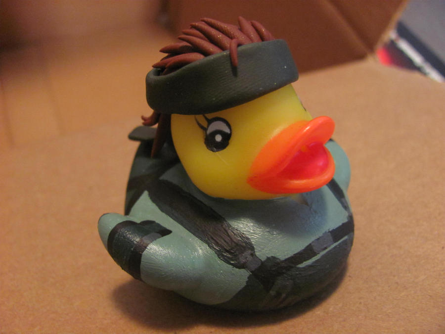 Solid Snake Duck by spongekitty