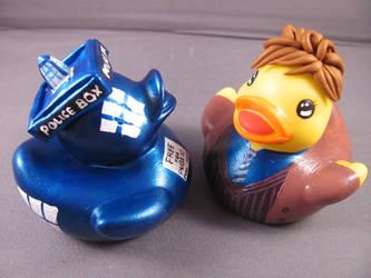 Ducktor Who and his Tarducks by spongekitty