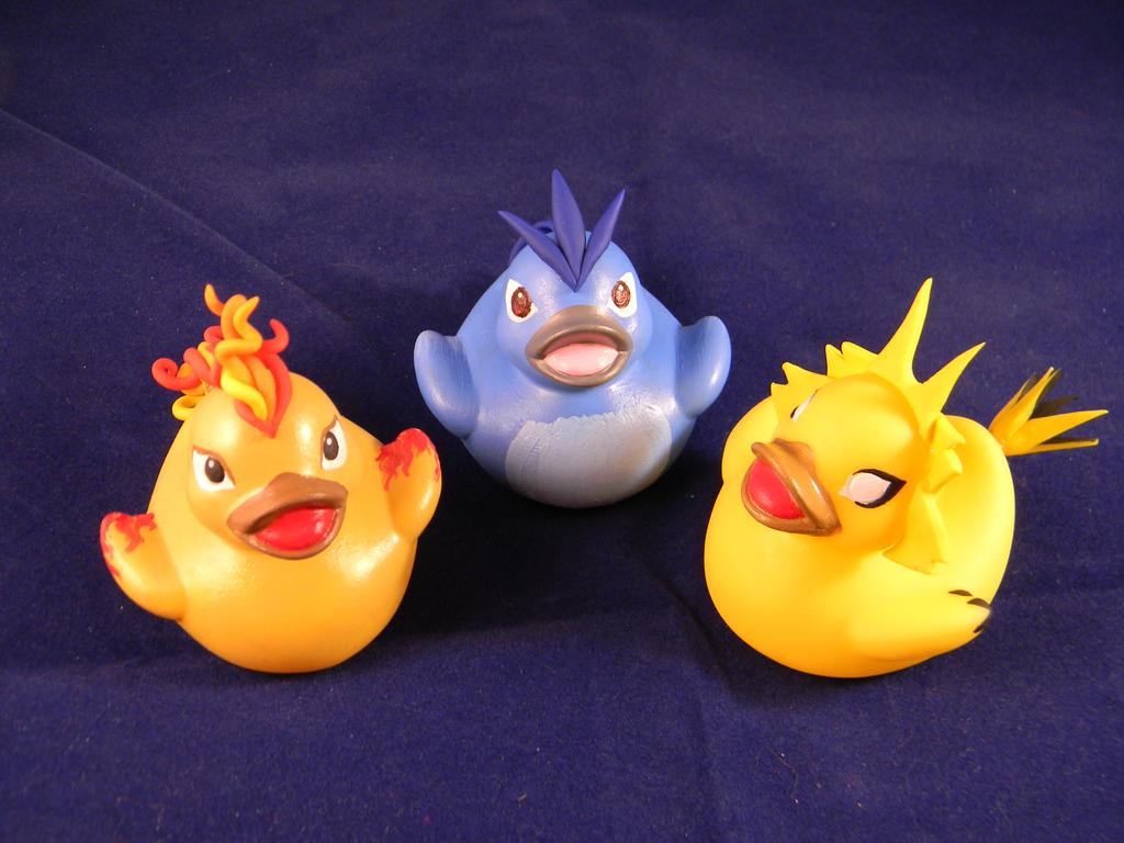 The Legendary Ducks by spongekitty