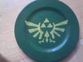 Geek Plate Number 3 - Triforce by Tukadian