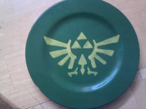 Geek Plate Number 3 - Triforce