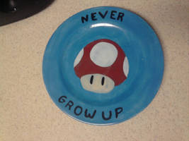 Geek Plate Number 4 - Mushroom by Tukadian