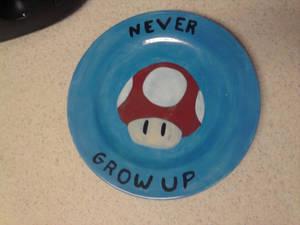 Geek Plate Number 4 - Mushroom
