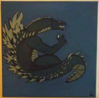 Godzilla Chilling Underwater by Tukadian