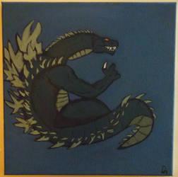 Godzilla Chilling Underwater