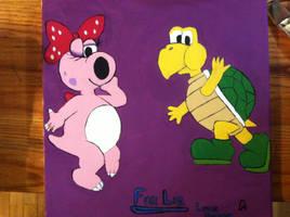Birdo and KT waving Goodbye to Liz by Tukadian