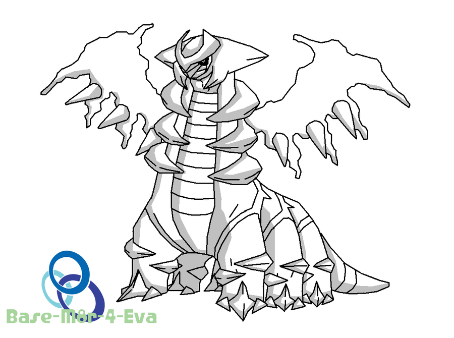 coloring pages giratina - photo#26