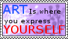 Express Yourself stamp by princeasle