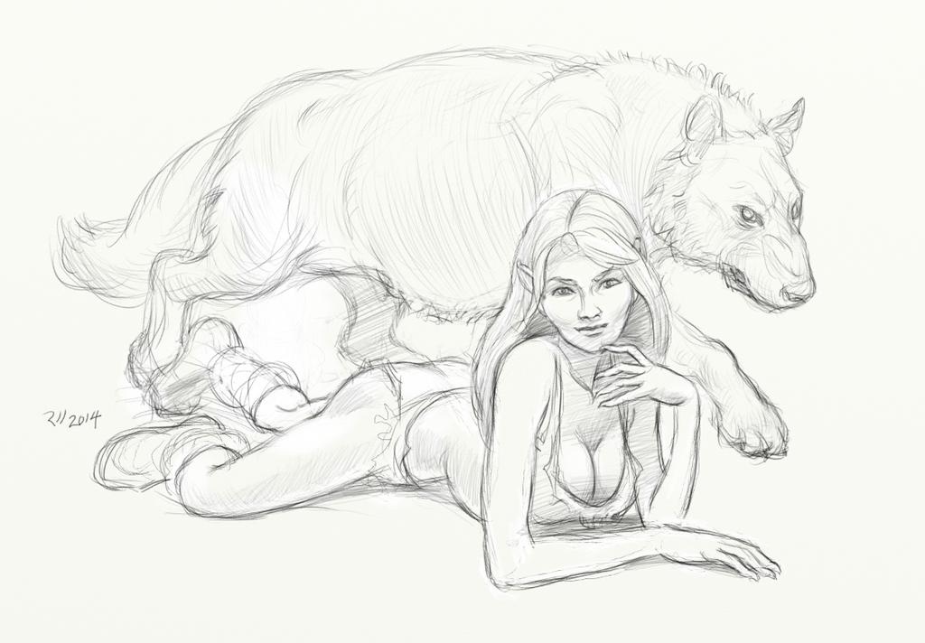 wolfgirl by uberzilla