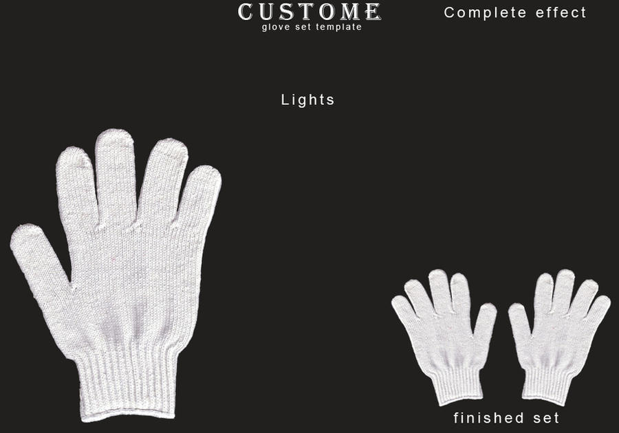 glove set template by bannanahamma on deviantart. Black Bedroom Furniture Sets. Home Design Ideas