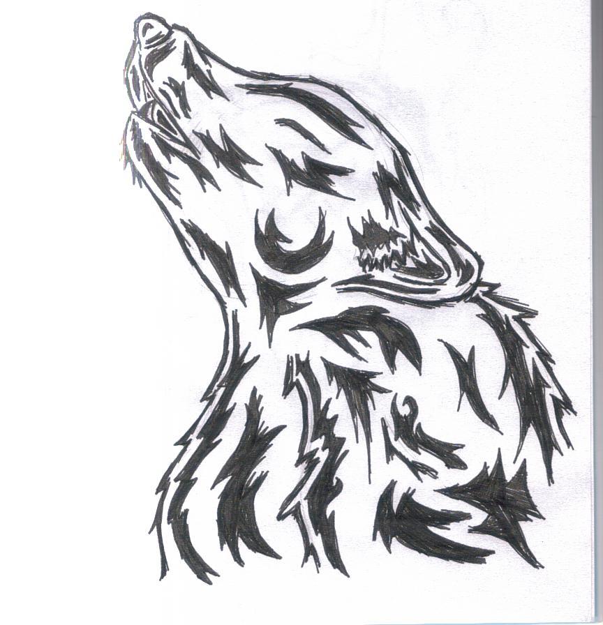 tribal wolf tattoo design 2 by wolfcaz millure on deviantart. Black Bedroom Furniture Sets. Home Design Ideas