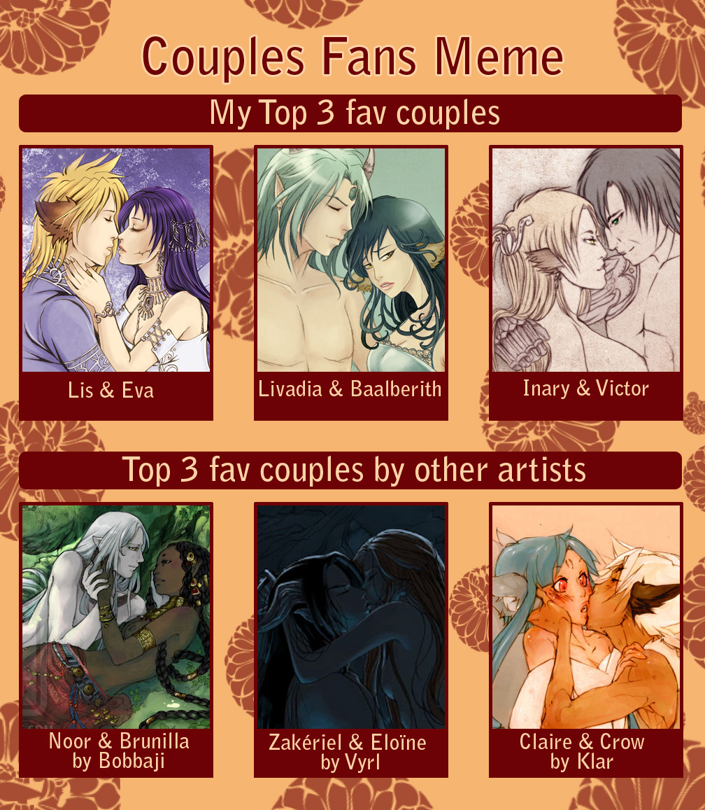 Couples-fans meme by Kimir-Ra