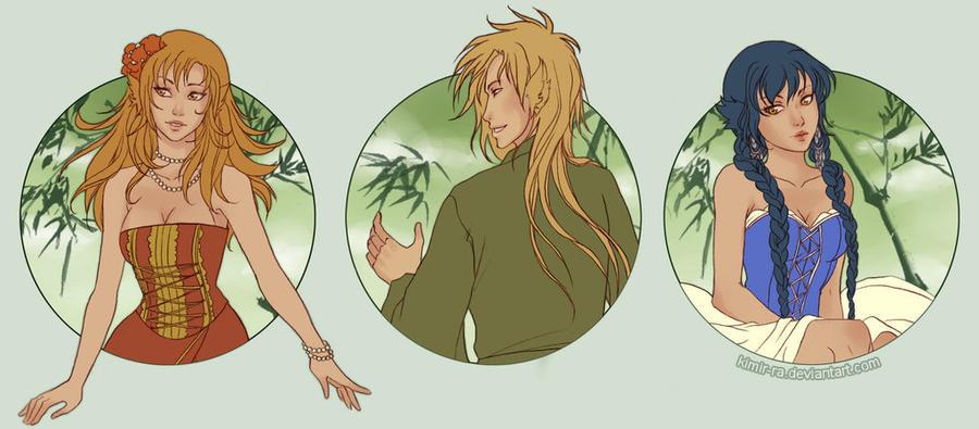Three foxes by Kimir-Ra