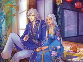Aminael and Dragon by Kimir-Ra