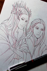 WIP: Thranduil and Legolas