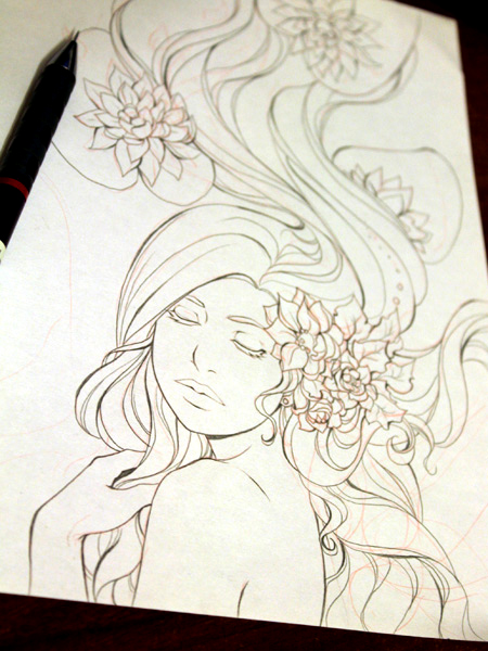 Water lily wip2 by Kimir-Ra