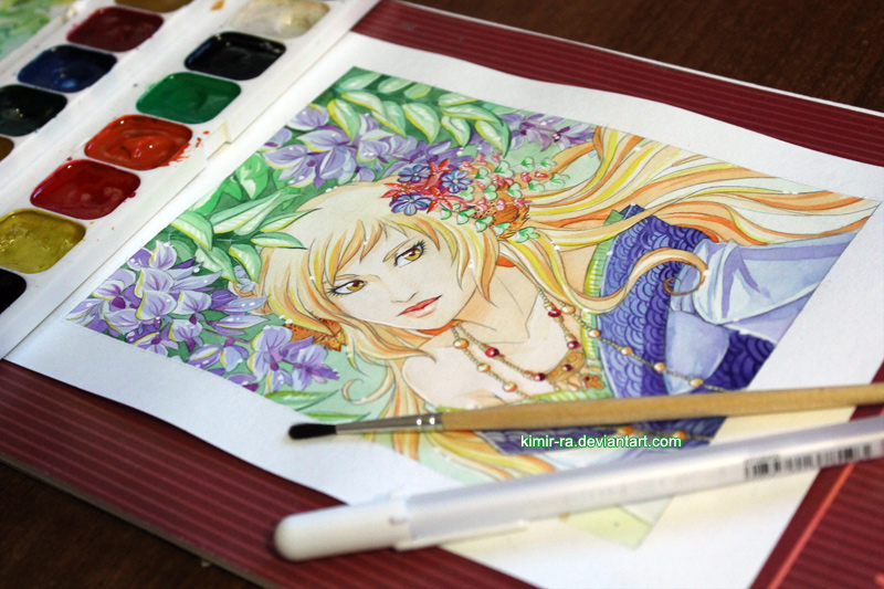 WIP: Blooming wisteria by Kimir-Ra
