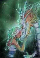 Princess and dragon by Kimir-Ra