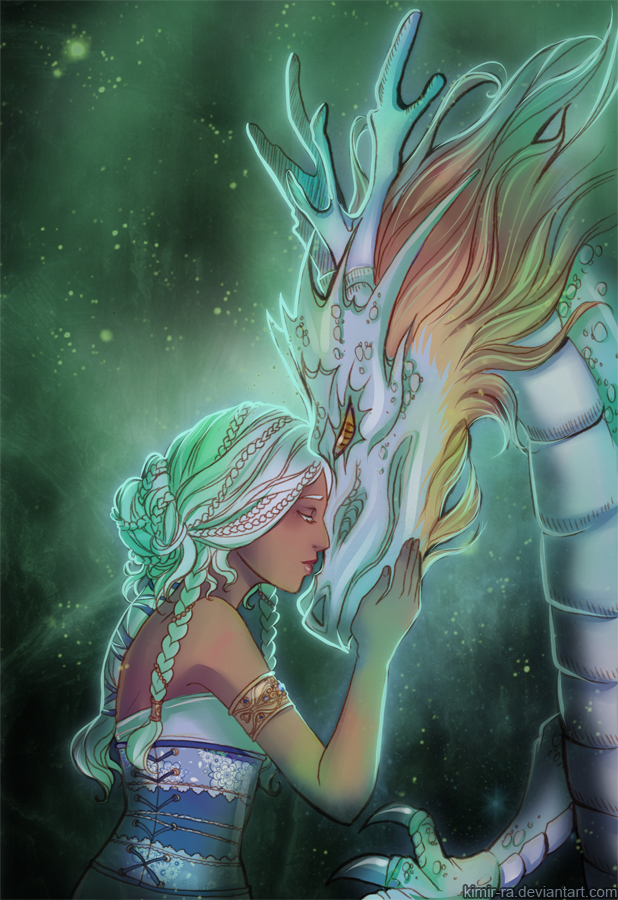 Princess and dragon by Kimir-Ra