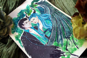 Wip: Maleficent and Diaval