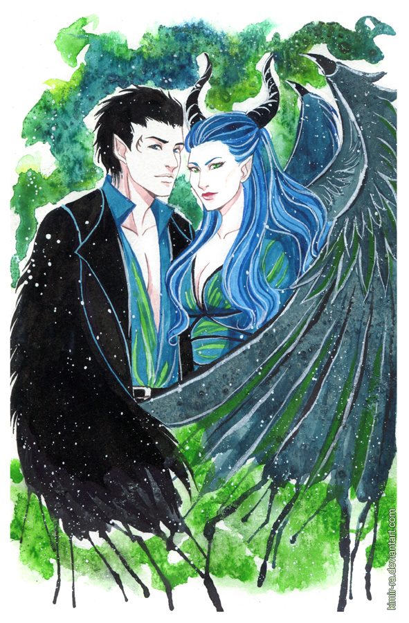 Maleficent And Diaval By Kimir Ra On Deviantart