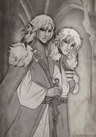 Lleu and Dragon by Kimir-Ra