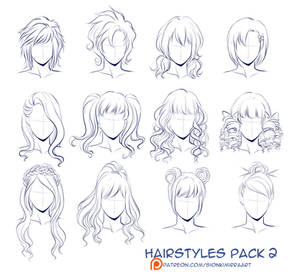 Hairstyles pack 2