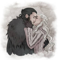 Targaryen kiss by Kimir-Ra