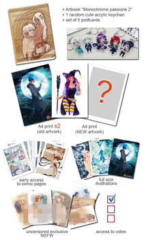 Patreon tiers update: NEW physical rewards!