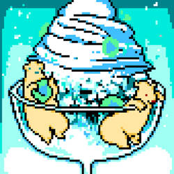 [pixel art] milky ice bear by 40Nix