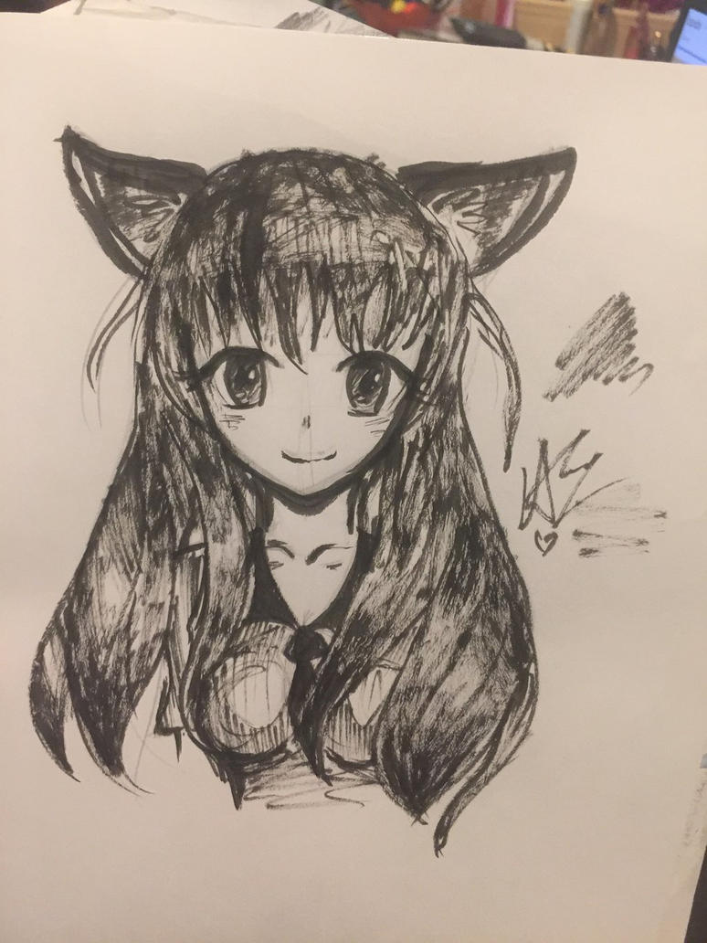 Quick Sketch Anime Girl  by wintercapsicle