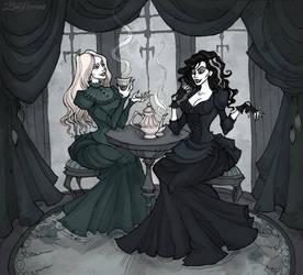 Bellatrix and Narcissa tea party