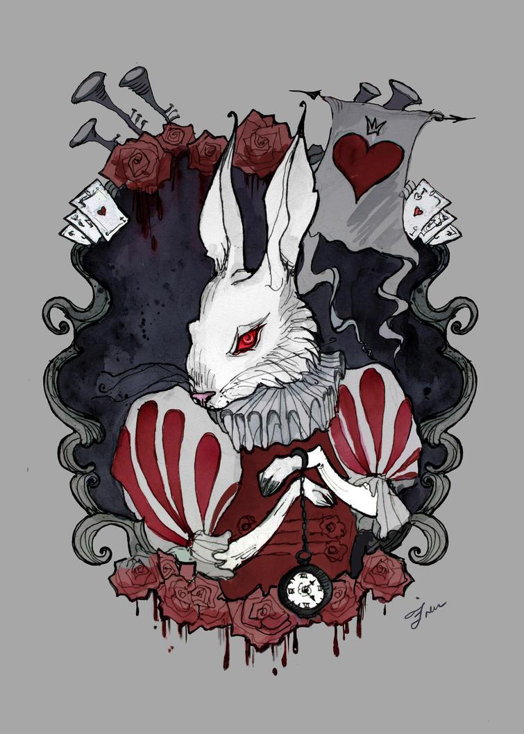 White Rabbit by IrenHorrors on DeviantArt - photo#4