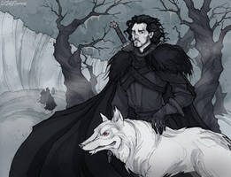 Jon Snow by IrenHorrors