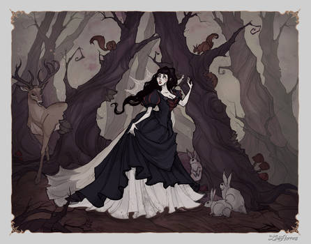 Snow White in Woods