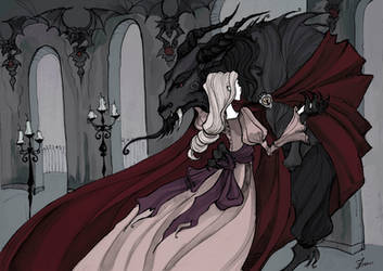 Beauty and the Beast Dance by IrenHorrors
