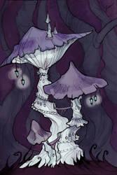 Mushroom Tower by IrenHorrors