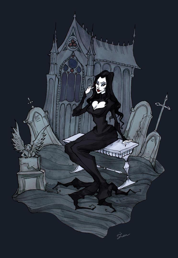 Morticia Addams by IrenHorrors