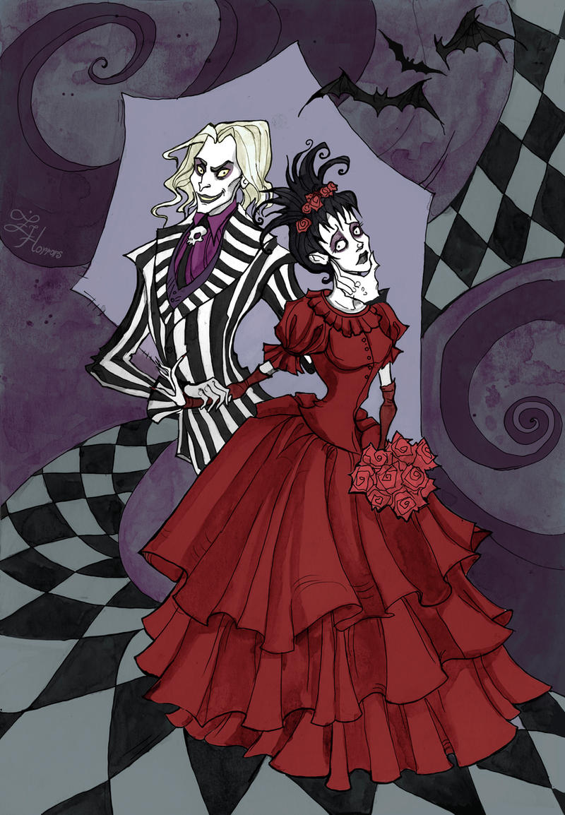 beetlejuice and lydia by irenhorrors on deviantart