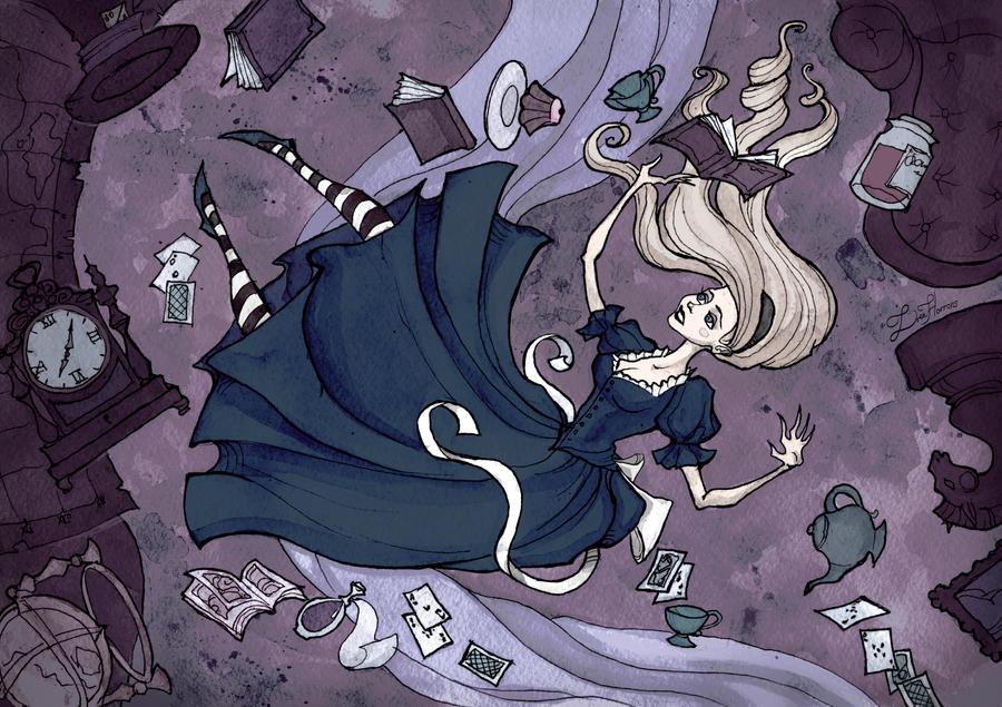 Alice Down The Rabbit Hole by IrenHorrors