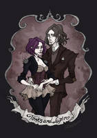 Tonks and Lupin by IrenHorrors