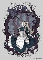 Alice and the Cheshire Cat by IrenHorrors