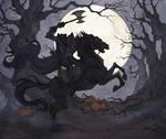 The Headless Horseman by IrenHorrors