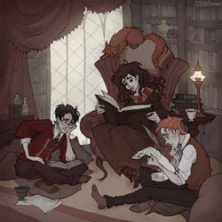 Gryffindor Common Room by IrenHorrors
