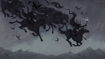 Wild Hunt by IrenHorrors